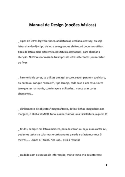 Manual de Design - Noções Básicas