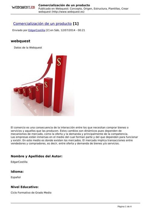 Función de Comercialización Webquest Edgar Costilla