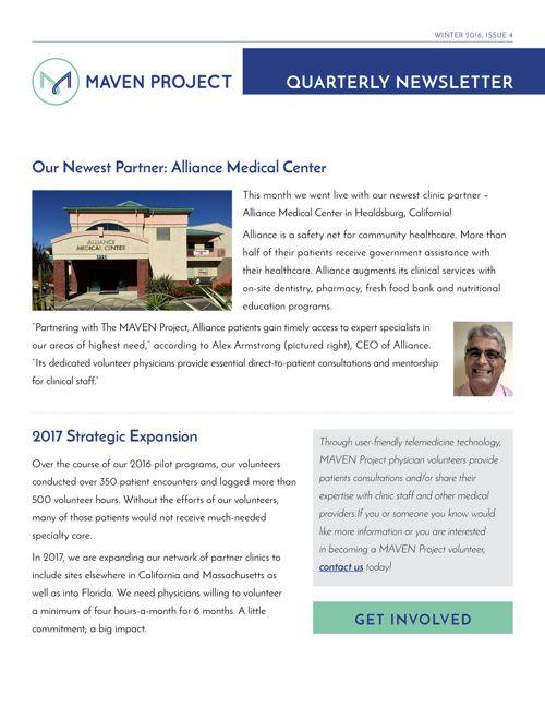 MAVEN Project Winter 2016-17 Newsletter