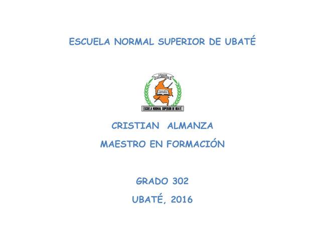 ESCUELA NORMAL SUPERIOR DE UBATÉ