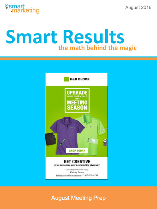 Smart Results August 2016 - HRBlock