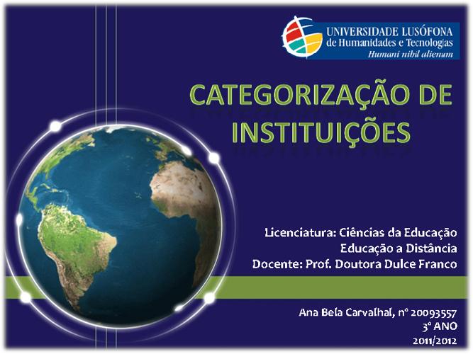 Educação a Distância - Categorização de Instituições