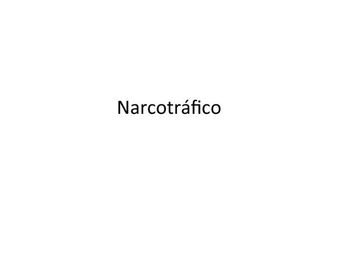 narcotràfico