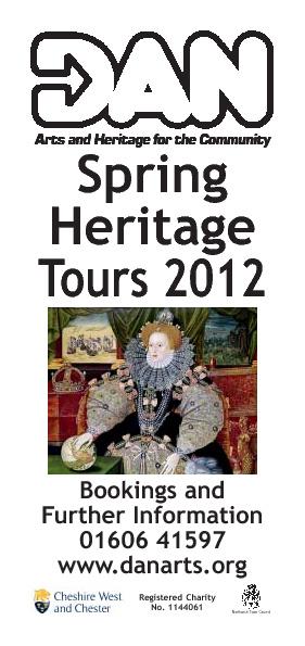 Heritage Tours Spring 2012