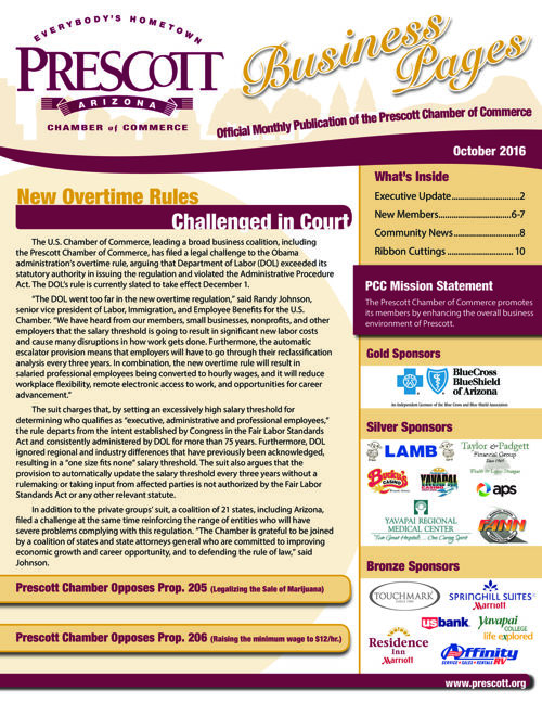 Prescott Chamber Newsletter 10-16