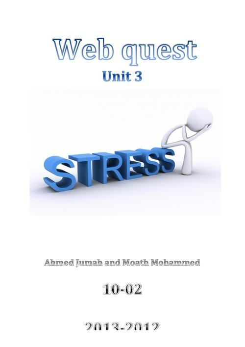 Stress - unit 3