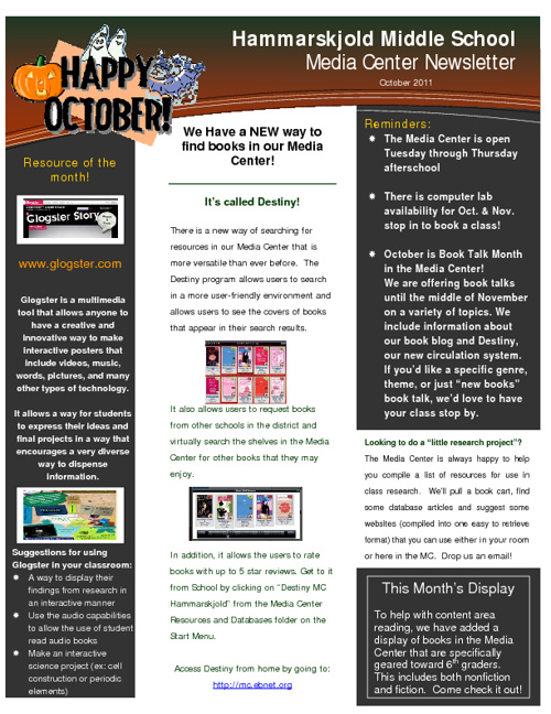 Newsletter flipbook