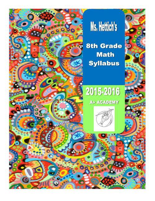 Hettich 8th grade Math syllabus_2015-2016