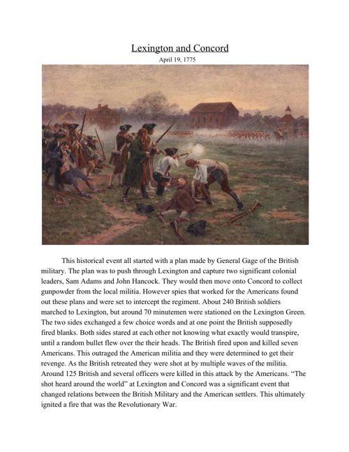 American History 1775-1789
