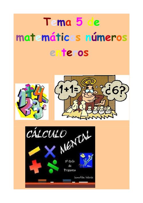 Libro de actividades tema 5 de matemáticas