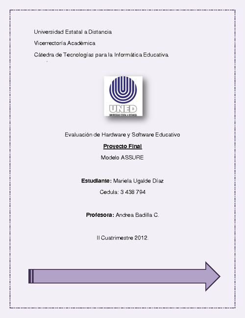 Propuesta Pedagogica Modelo ASSURE.