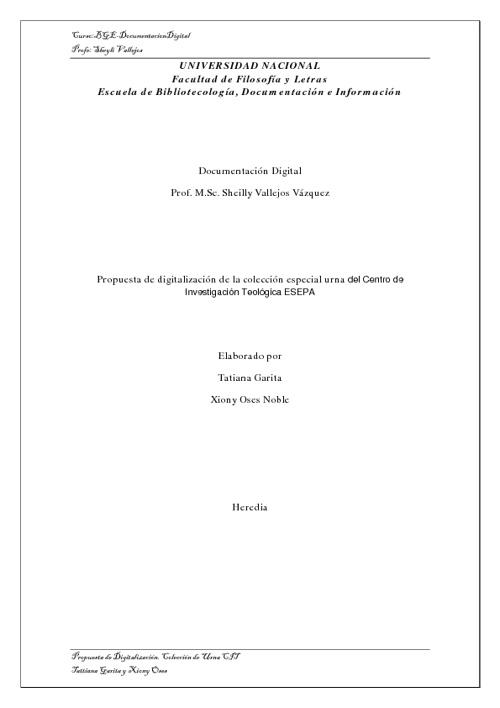 Digitalización Coleccion de Urna del CIT