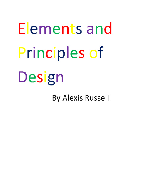 Alexis Russell  Elements and Principles Book