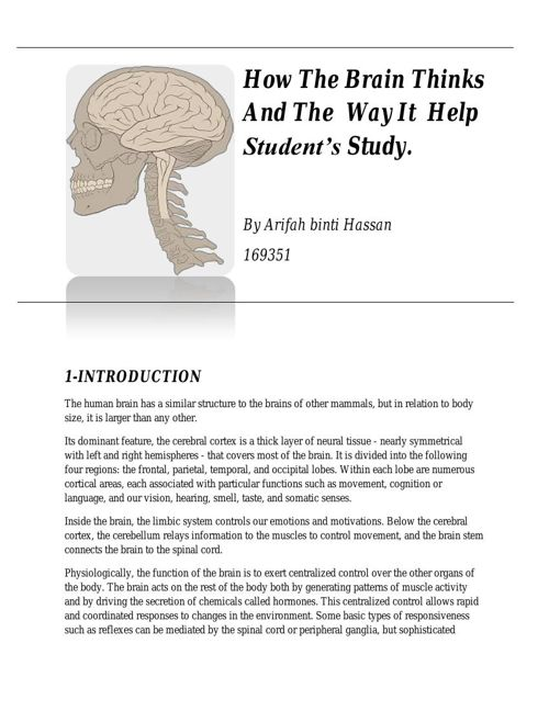 How The Brain Thinks And The  Way It  Help Our Study-word