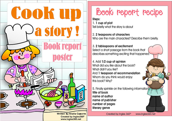 recipe for a good book report