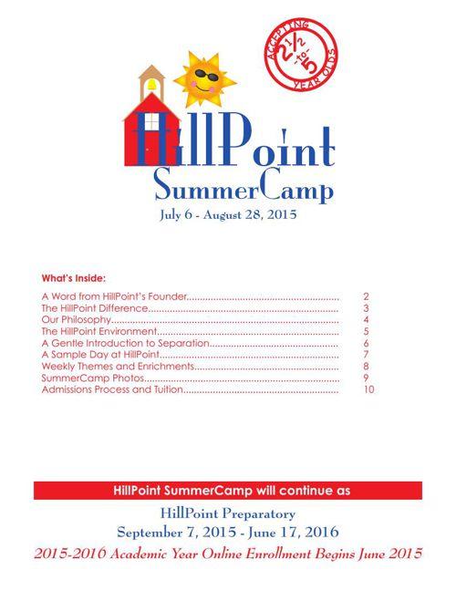 2015 HillPoint SummerCamp