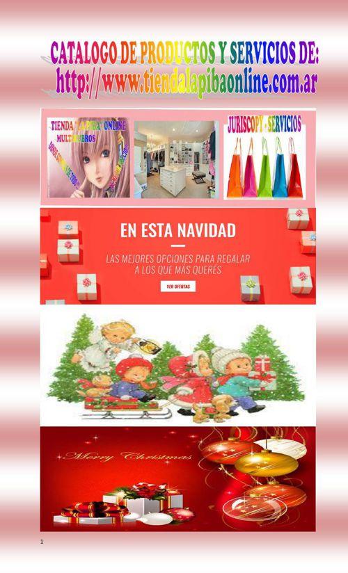 CATALOGO DE PRODUCTOS Y SERVICIOS DE TIENDA ONLINE - NAVIDAD
