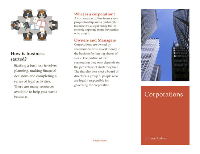 13.4 Corporation Brochure Assignment- Brittney Goodman