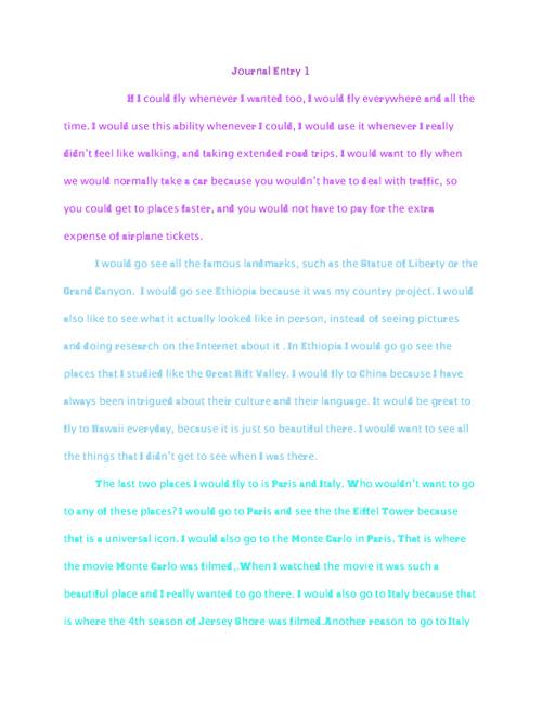Kinsley Buchanan - Journal Book 1