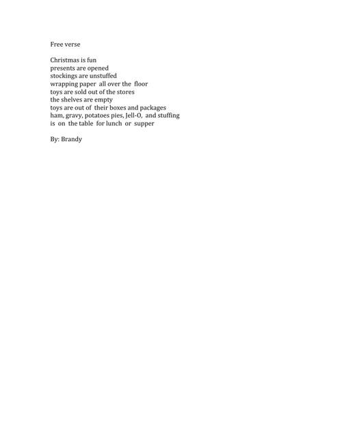 Brandy's Poetry