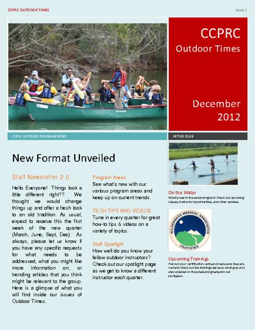 Outdoor Times - Dec. 2012