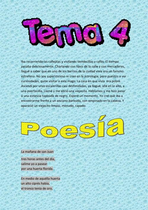 Tema 4 de Lengua