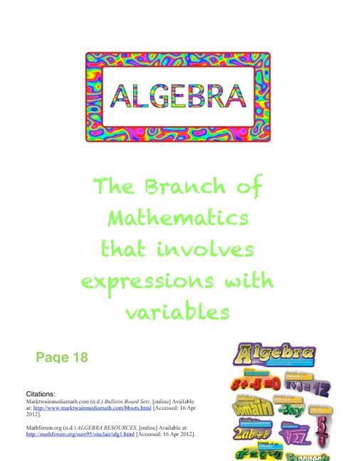 7th Grade Math Vocabulary Sample