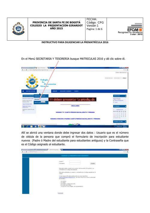 INSTRUCTIVO PREMATRICULA2016 Todos