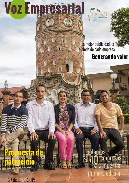 """Propuesta de Patrocinio """"Voz Empresarial"""" DAVIVIENDA"""