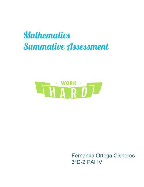summative assessment fer ortega