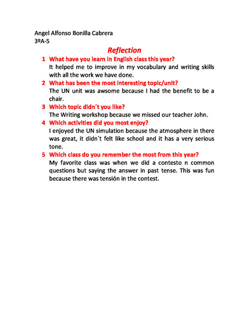 Reflection English
