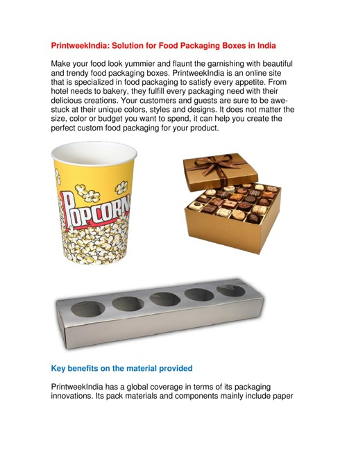 PrintweekIndia: Solution for Food Packaging Boxes in India
