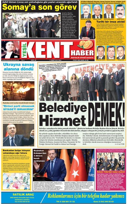 Yeşilkent Haber Gazetesi - Sayı 88