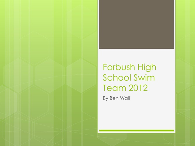 Forbush High School Swim Team 2012