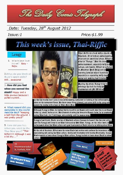 5NK's Thai-Riffic Newspaper