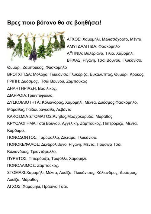 Τα βότανα θεραπεύουν!