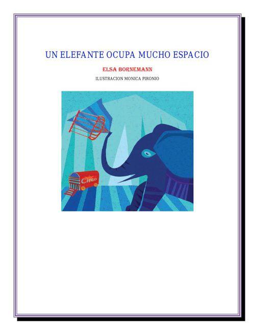 Cuento: Un elefante ocupa mucho espacio