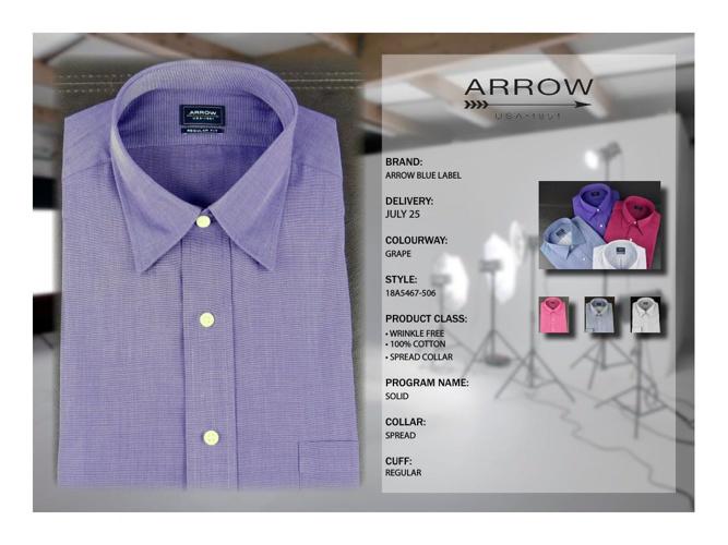 FALL 2014 DRESS SHIRTS INDIVIDUAL ARROW BLUE 7 25 DIGITAL