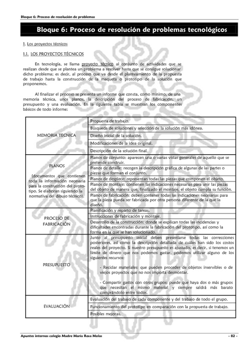 Tema 6. Proyectos técnicos