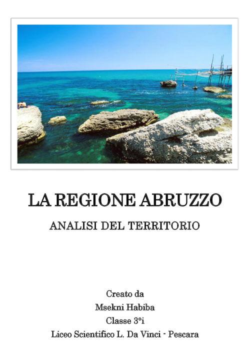 LA REGIONE ABRUZZO-analisi del territorio
