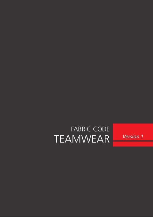 Teamwear - Fabric Code