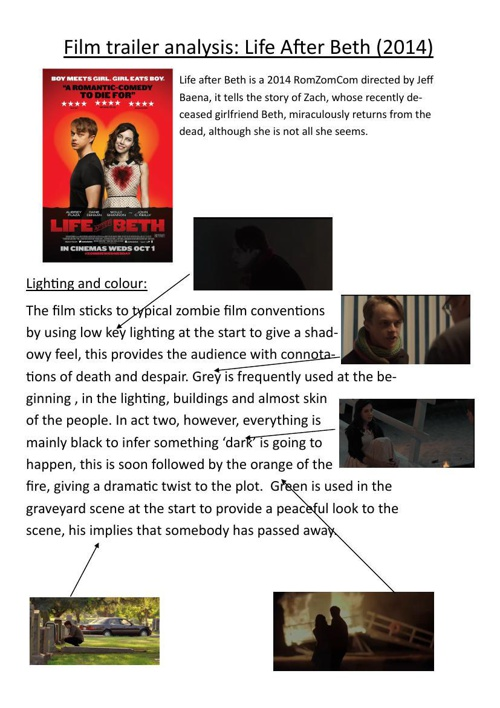 Life after Beth trailer analysis