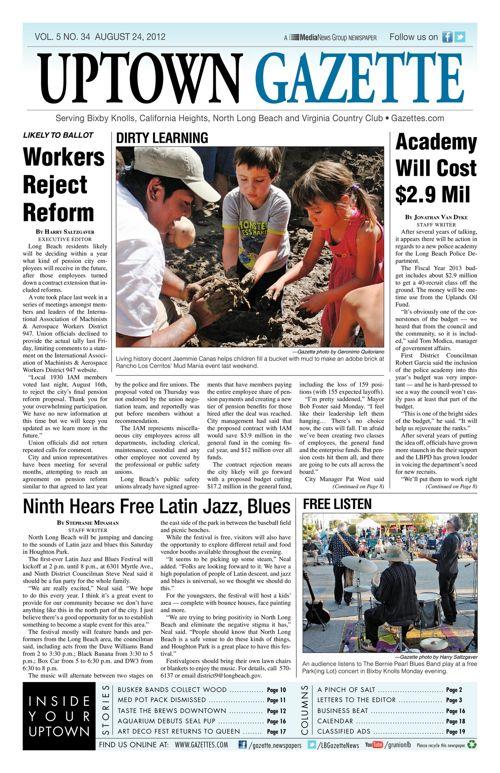 Uptown Gazette  |  August 24, 2012