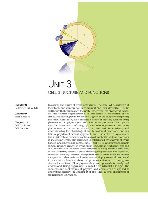 Ch 8. Cell structure and functions