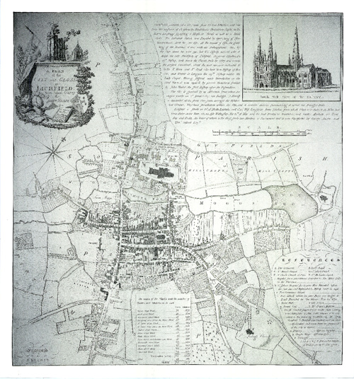 Maps Of Lichfield in Staffordshire