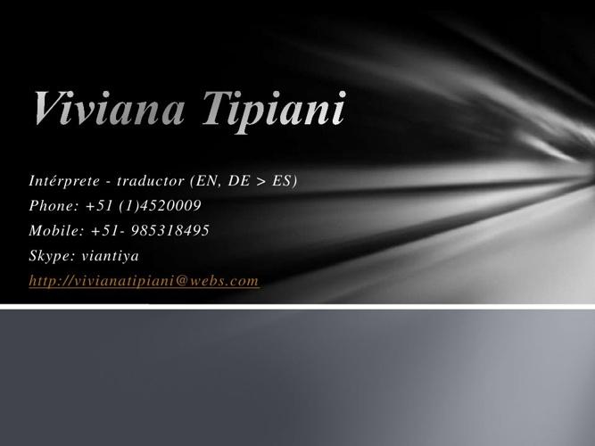 CV Español Viviana Tipiani
