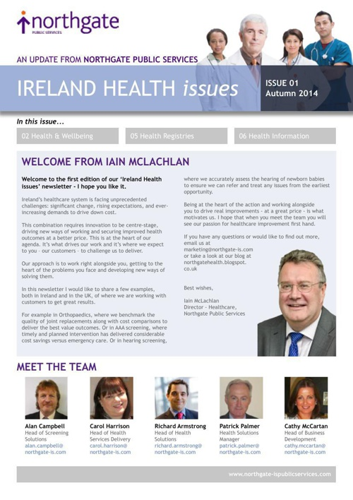 Ireland Health Issues - issue 1 Autumn 2014