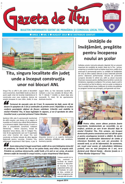 GAZETA DE TITU/NR05