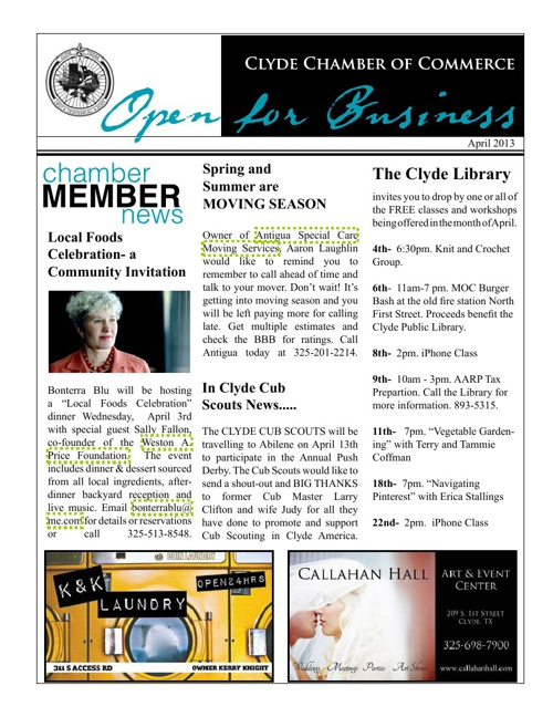 April2013Newsletter