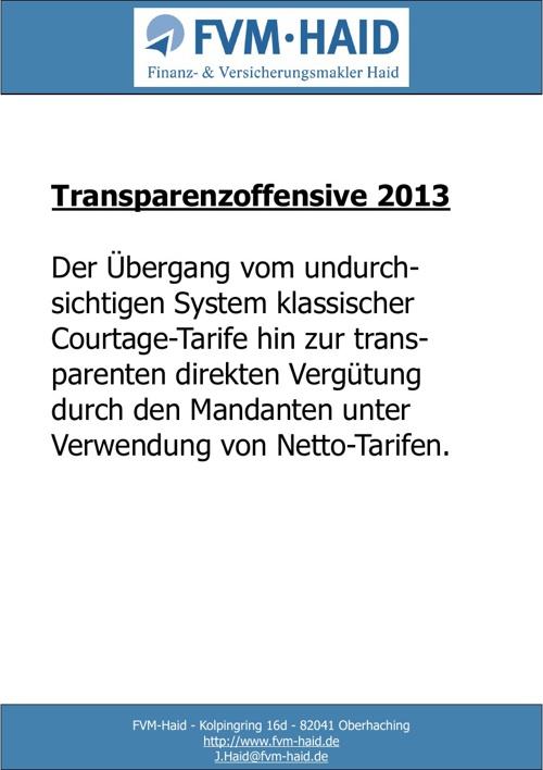 Transparenzoffensive 2013